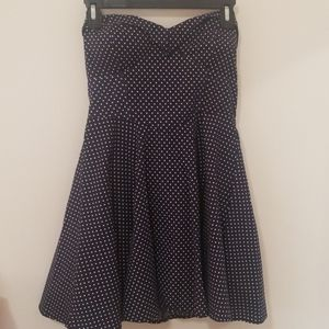 emerald sundae navy polka dot dress